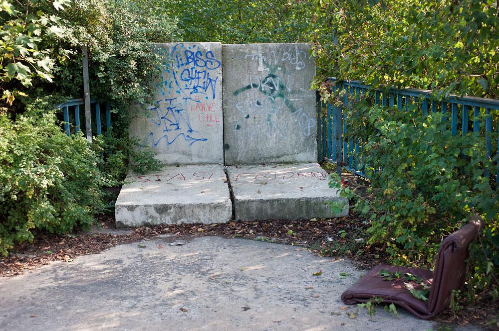Blocked bridge. Berlin