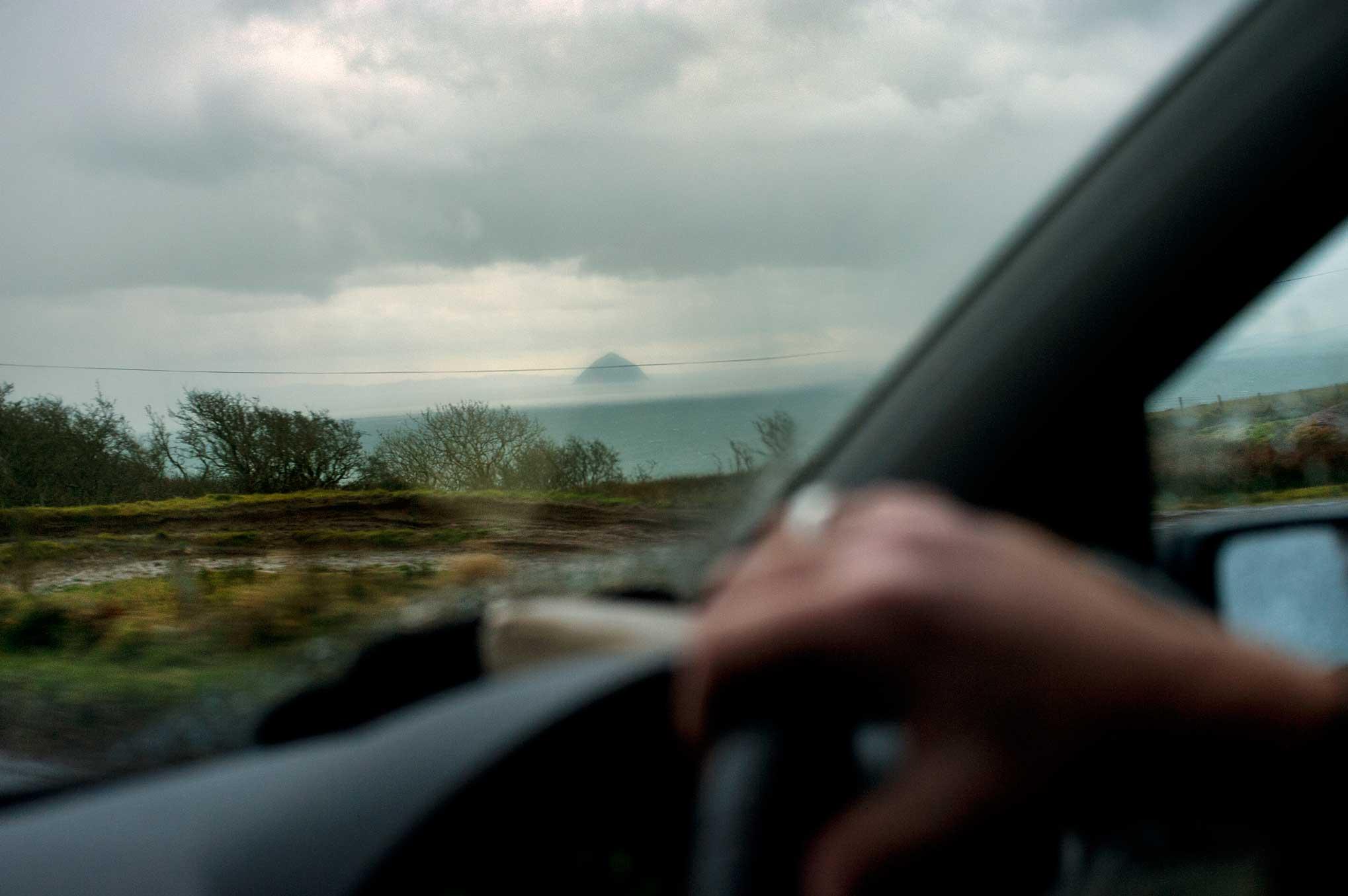 View to Ailsa Craig Scotland